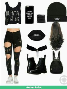 Lindo Outfits color negro