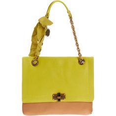 Lanvin Two-Tone Happy MM Shoulder Bag