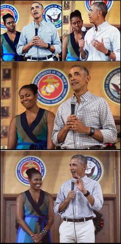 #44th #President #POTUS Of The United States 🇺🇸 Of America #CommanderInChief #BarackObama #FirstLady #FLOTUS Of The United States 🇺🇸 Of America #MichelleObama at Marine Corps Base Hawaii in Kailua, 12/25/16