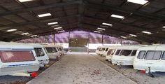 Neatly arranged dry storage for caravans. Caravans, Recreational Vehicles, Storage, Purse Storage, Larger, Camper, Campers, Store, Single Wide