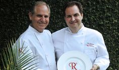 Chef Folse and Tramonto with R'evolution Plate