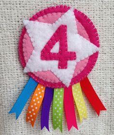 4th birthday badge