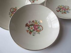 Vintage Petit Point by Quaker Girl Floral Berry by thechinagirl