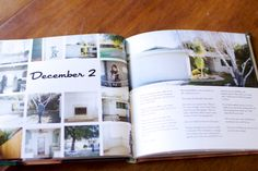 Photo book idea for December Daily :: love the simple ness and clean lines Family Yearbook, Yearbook Pages, Yearbook Photos, Family Album, Yearbook Spreads, Yearbook Layouts, Blurb Book, Blurb Photo Book, Photoshop Book