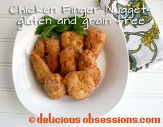 Crispy Coconut Finger Nuggets with Tangy Balsamic Dip (Gluten and Grain Free) // DeliciousObsessions.com #paleo #glutenfree