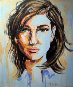 "Saatchi Art Artist Magdalena Ana Rosso; Painting, ""Clara"" #art"