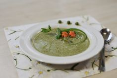 Pea Soup With Mint And Ginger This light and very tasty pea soup recipe.    When I cooked the soup myself for the first time, I was swept off my feet. This soup is a real treat on the fir...