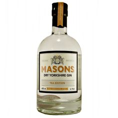 Masons Dry Yorkshire Gin Tea Edition small batch available to buy online at specialist gin and whisky shop whiskys.co.uk Stamford Bridge York