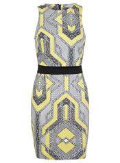 Graphic Print Bodycon Dress