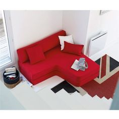 Espace loggia lit mezzanine banquette brick bambou sofa canape ...