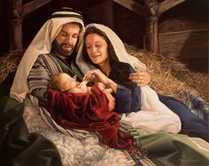 "My uncle Danny did this painting! :) ""They Called His Name Jesus"" by Daniel Freed. © All rights reserved. Christmas Jesus, Christian Christmas, Christmas Nativity, Merry Christmas, Christmas Music, Christmas Diy, Birth Of Jesus, Baby Jesus, Images Du Christ"