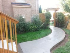 Take a look at our world-wide-web site for lots more involving this breathtaking photo Concrete Backyard, Concrete Walkway, Poured Concrete, Backyard Patio, Backyard Ideas, Gravel Walkway, Wood Walkway, Walkways, White Gravel
