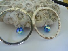 Handcrafted Artisan Sterling Silver Hoops with by MaroonedJewelry, $40.00