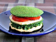 Spinach Pancakes @spabettie. Mi version es con aceite
