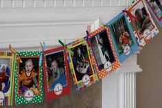 First Birthday Photo Banner Colorful by bethsbanners on Etsy, $34.00
