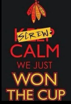 Blackhawks! I hope we do it again!
