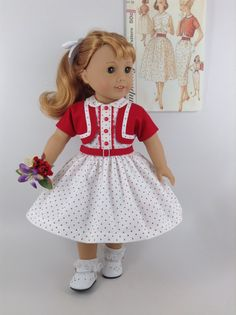 CUSTOM FOR CC  1950's American Girl 18-inch Doll by HFDollBoutique