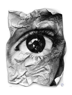 Available for sale from JG Contemporary, JR, EYE - Froisse Screenprint on archival paper Signed and numbered by the artist, 90 × 70 cm Collages, Collage Art, Look Into My Eyes, Look At You, Photomontage, Eye Art, Beautiful Eyes, Screen Printing, Art Photography
