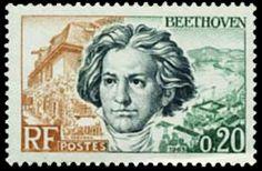 Ludwig van Beethoven prantsuse postmargil / Lw. v. Beethoven stamped by the french