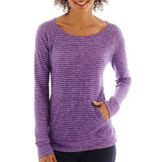 a.n.a® Long-Sleeve Kangaroo Pocket Pullover Tee  found at @JCPenney