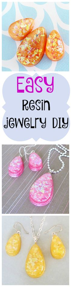 easy resin jewelry DIY - this looks like a great way for me to make Christmas gifts!
