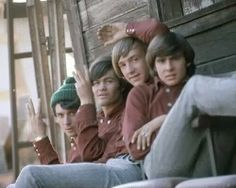 THE MONKEES: Mike Nesmith, Micky Dolenz, Peter Tork, Davy Jones. Cropped photo appears to have been taken at the photo shoot for their debut album cover. | Rankin/Bass-historian