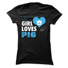 This girl loves her Pig T-Shirts, Hoodies. GET IT ==► https://www.sunfrog.com/LifeStyle/This-girl-loves-her-Pig--0715-Ladies.html?id=41382
