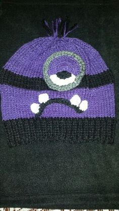 My grandson asked for a Purple Minion hat ♡