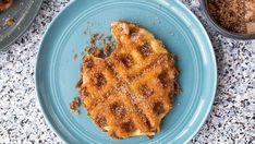 cinnamon sugar pretzel waffle