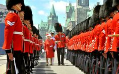 Queen Elizabeth II inspects the Guard of Honor on Parliament Hill July I, 2010 in Otawa, Canada Canada Day Toronto, Toronto Star, Canada Eh, Visit Canada, Ottawa Canada, Hm The Queen, Her Majesty The Queen, Happy Canada Day, Queen Birthday