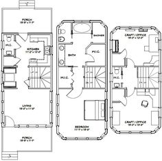 16x30 tiny house 16x30h11 901 sq ft excellent for 16x30 house plans