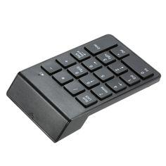 Bluetooth 3.0 Numeric Keypad Wireless Number Pad 18 Keys Mini Digital Keyboard for iMac/MacBook/MacBook Air/Pro/iPad Laptop Tablet Smartphone