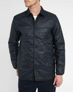 Navy Jens Primaloft Quilted Overcoat