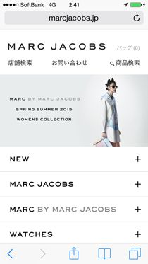 MARC JACOBS(マーク ジェイコブス)