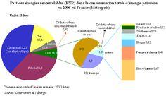 Part des énergies renouvelables dans la consommation totale d'énergie primaire en 2006 en France