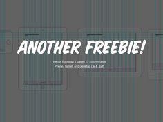 12 Column Vector Grid Draft (Mobile, Tablet, Desktop) by Greg Shuster