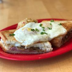 Grilled Ham Brie caramelized onion 2 eggs! Served till 3!  Holly's Gourmets Market  #Knoxville #Catering #Wedding #Lunch #Breakfast #Restaurant
