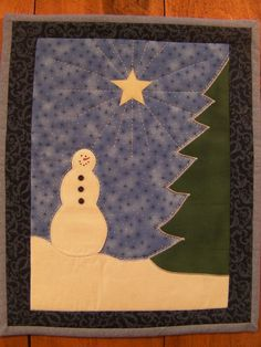 Quilted Wallhanging - Snowman