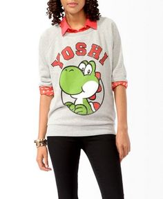Yoshi 3/4 Sleeve Pullover | FOREVER21 - 2021840314