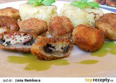 Plněné žampiony brokolicí a Nivou recept - TopRecepty.cz Baked Potato, Potatoes, Baking, Ethnic Recipes, Food, Potato, Bakken, Essen, Meals