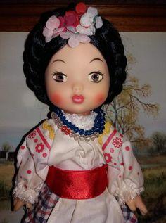 Кукла Украинка Кругозор СССР паричковая,с этикеткой.Парик.80-е