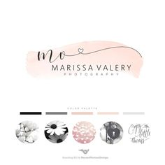 Photography Logo Premade Heart logo Wedding Logo by BVLogoDesign