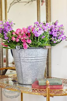 DIY Oversized Galvanized Cottage Style Vase