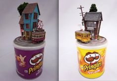 Japanese artist Akihiro Morohoshi has given a twist to the crafting of traditional miniature models by marrying them with common, everyday objects. His series of works has given birth to imaginary worlds that exist on cans of Pringles, match boxes, bento boxes, milk crates and mini vending machines. Each miniature world has gone under his […]
