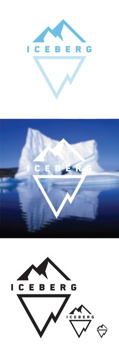 Iceberg Logo Design by Greg White, via Behance