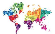 Unilever by Bruce Mau Design (BMD), via Behance Cool World Map, World Map Wall Art, Map Art, Art Pop, World Map Design, Environmental Graphics, Vintage Maps, Geometric Art, Paint Designs