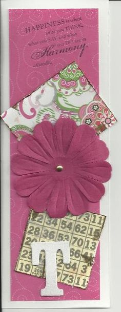 """This is a bookmark I designed for last year's """"Croppin' for a Cure"""" scrapbooking night."""