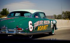 Vintage Race Car, Vintage Auto, Classic Cars Usa, Hudson Car, Hudson Hornet, Funny Disney Jokes, American Motors, Drag Racing, Fast Cars