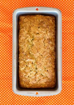 Zucchini bread.... Recipe turned out great.  I didn't have orange zest, so I substituted lemon zest.  I drained the shredded zucchini.  Batter was a little thick, but end result was moist. I made these into 6 tall muffins that reminded me of a Starbuck's bakery muffin.