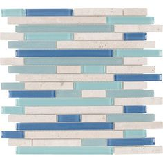 Elida Ceramica Water Springs Brick Mixed Material Mosaic Indoor/Outdoor Wall Tile (Common: 12-in x 13-in; Actual: 12-in x 12-in)